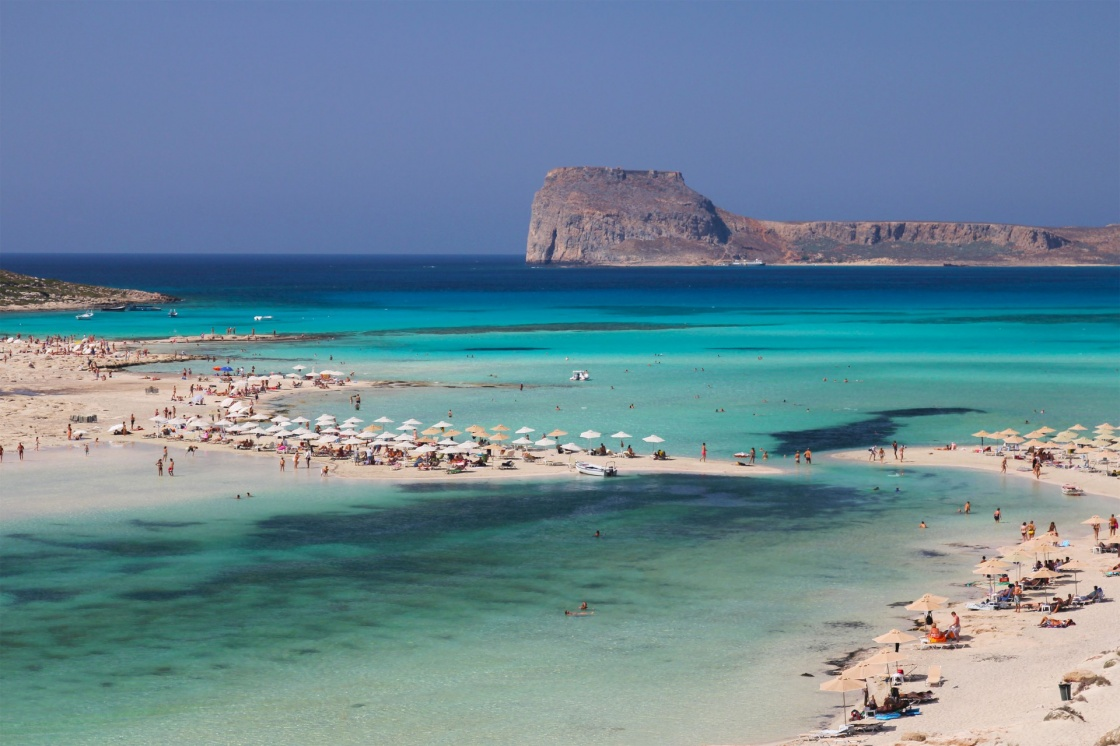 'Gramvousa Island seen from Balos Beach in Crete, Greece.' - Kreta